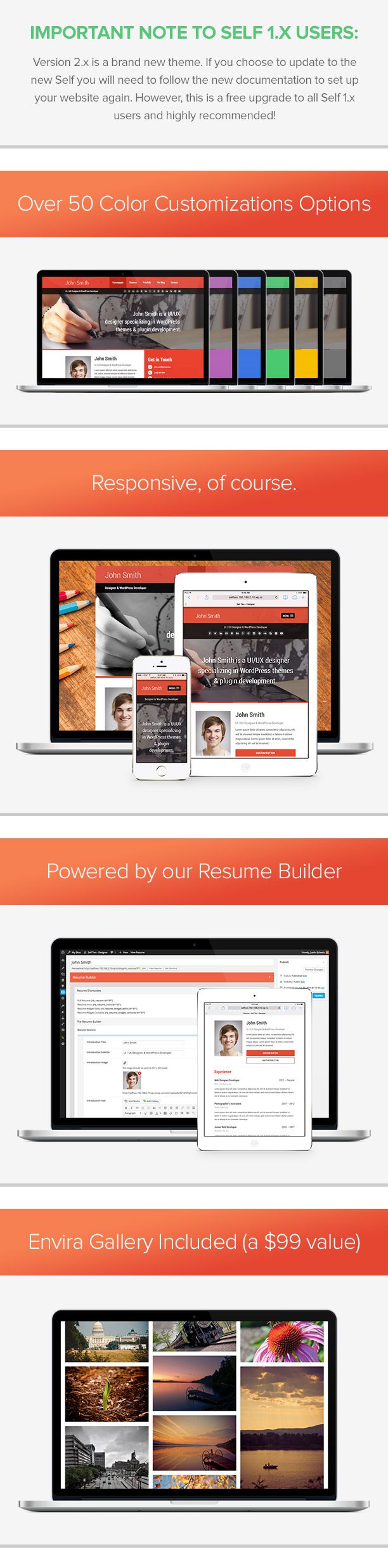 Self - A Powerful vCard Theme w/Resume Builder